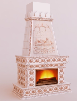 камин в голландском стиле