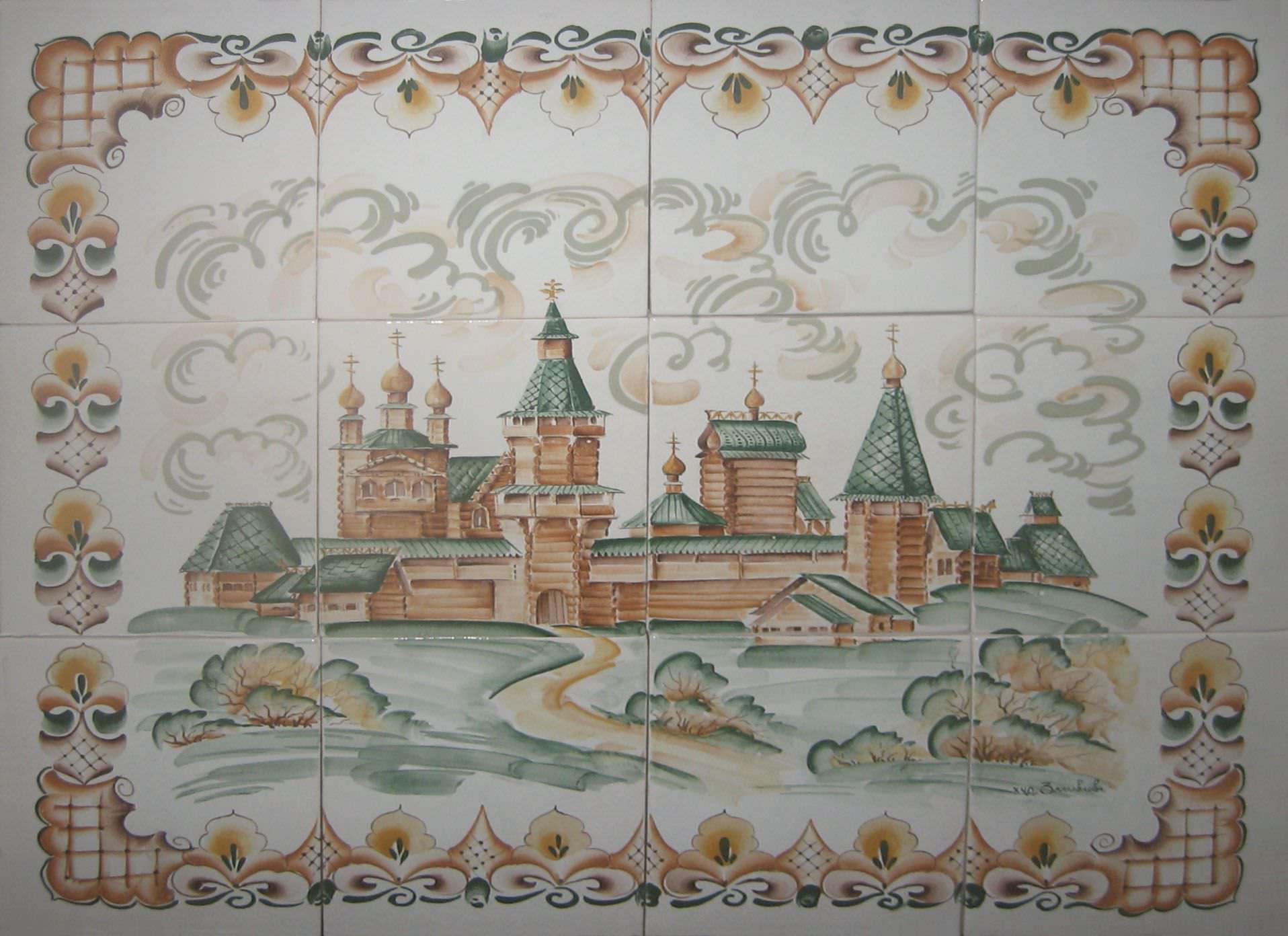 декоративные керамические панно