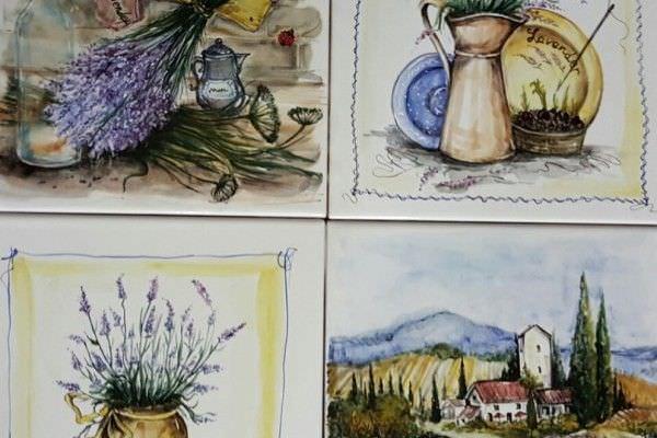 Роспись керамической плитки для кухонного фартука