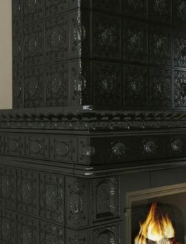 камин Реставрация в черном цвете-2