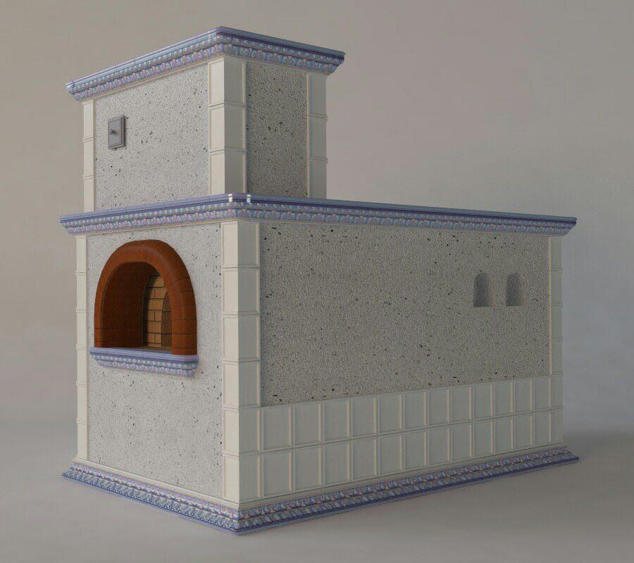 печь в изразцах коллекции - Квадраты