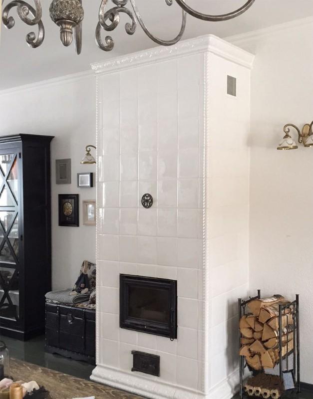 комната с камином фото