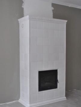 камин изразцы керамика белый
