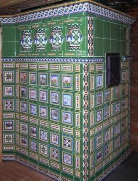 керамическая плитка для печей и каминов