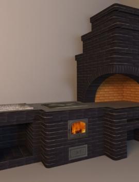 печь мангал из кирпича