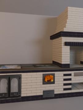 печь с варочной плитой