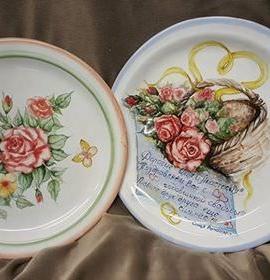 Тарелки с росписью