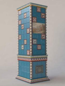 камин с колоннами