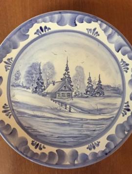 Декоративный сувенир тарелка