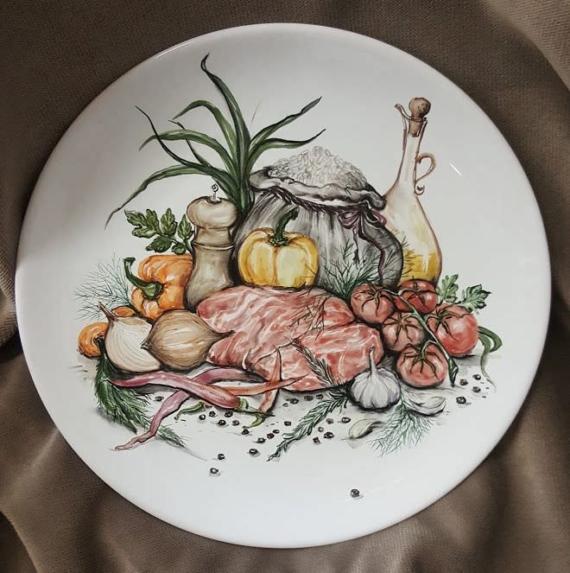Декоративная посуда тарелка