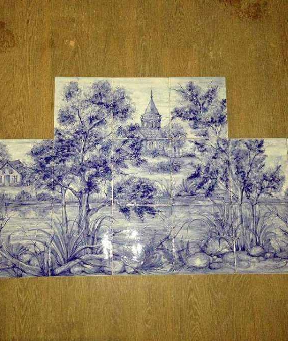 панно на плитке керамика