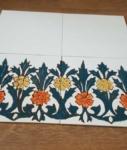 плитка с росписью керамика