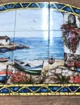 панно фасад керамика