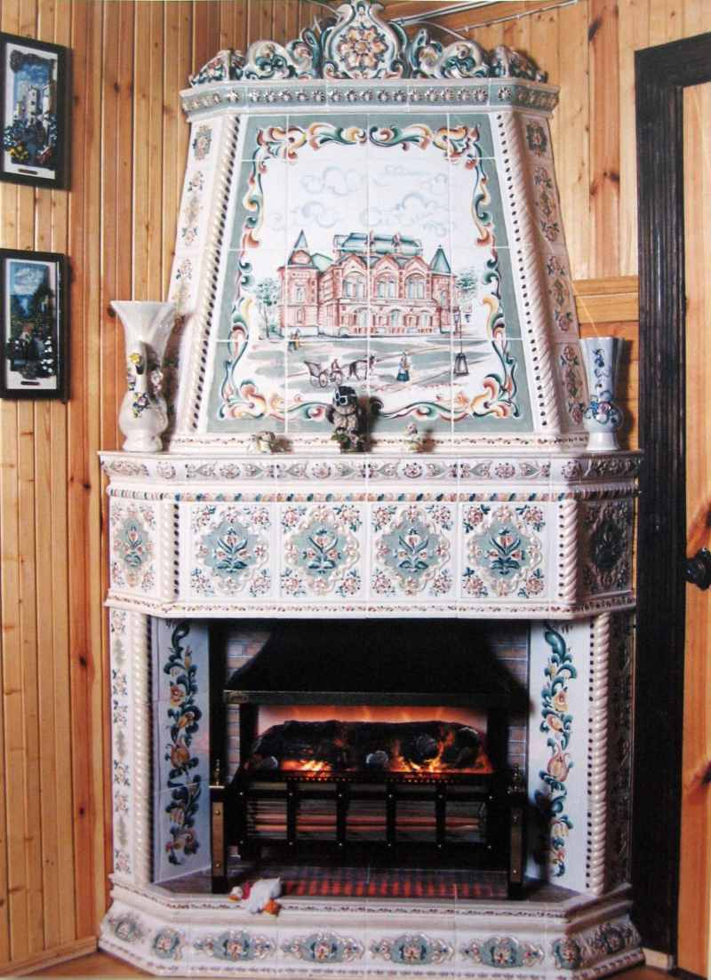 камин в загородном доме фото