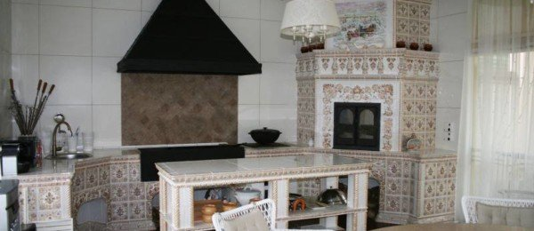 Летняя кухня в беседке