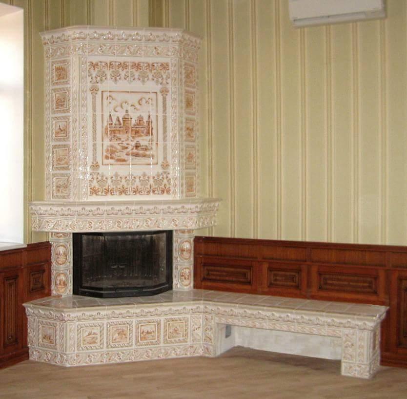 камин в гостиной фото
