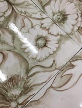 плитка с росписью