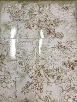 плитка с ручной росписью