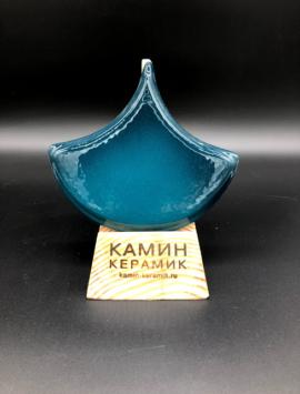 плитка чешуя лазурно-синяя