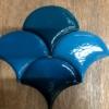 плитка чешуя сине-голубых оттенков
