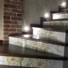 плитка на лестницы дизайнерская с подсветкой