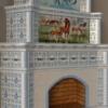 изразцовый камин лошади