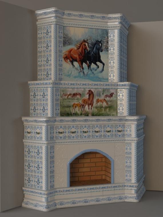 изразцы лошади